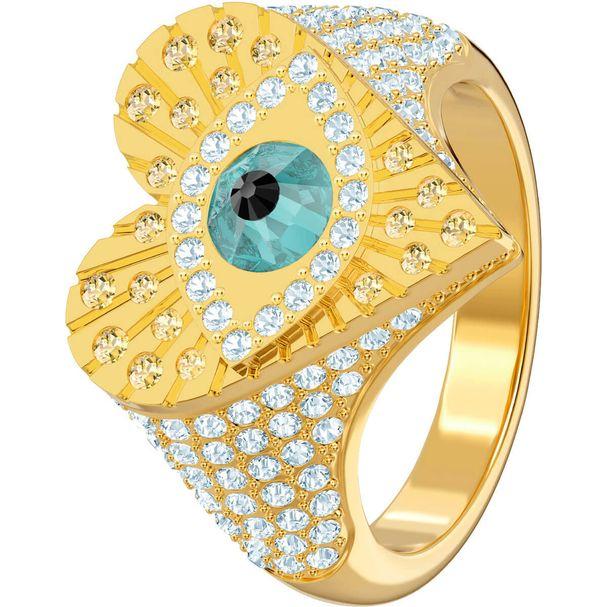 Anillo-con-motivo-Lucky-Goddess-Heart-multicolor-baño-de-oro