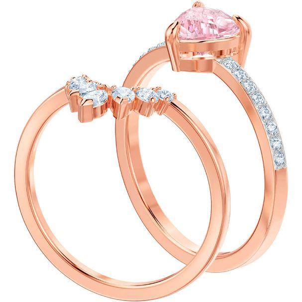 Conjunto-de-anillos-One-multicolor-baño-de-oro-rosa