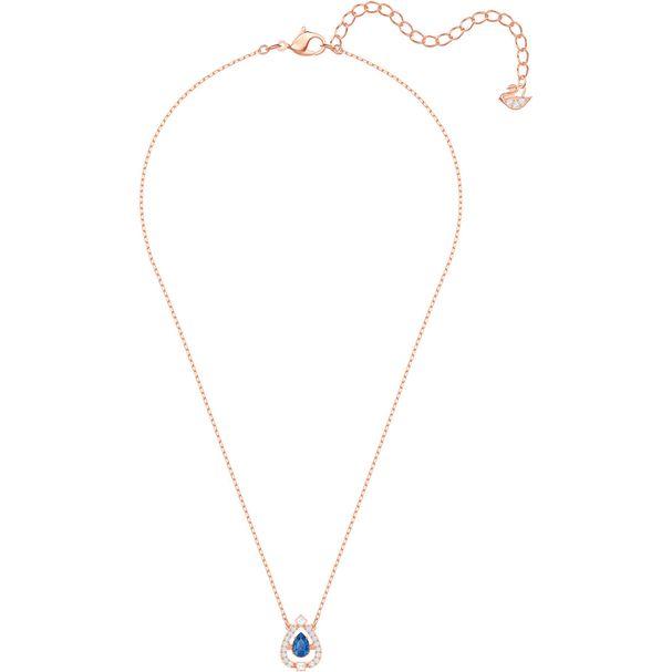 Collar-Sparkling-Dance-Pear-azul-baño-de-oro-rosa