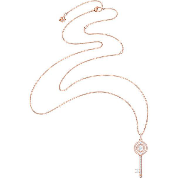 Collar-Sparkling-Dance-Key-blanco-baño-de-oro-rosa