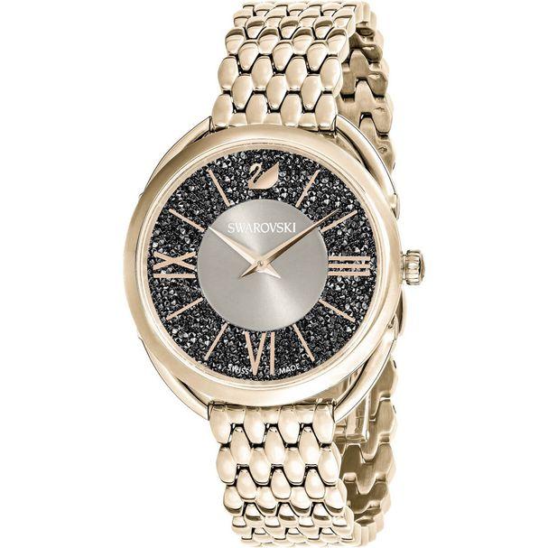 Reloj-Crystalline-Glam-Brazalete-de-metal-blanco-tono-oro-champan