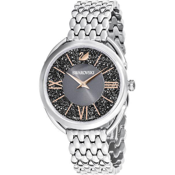 Reloj-Crystalline-Glam-Brazalete-de-metal-gris-tono-plateado