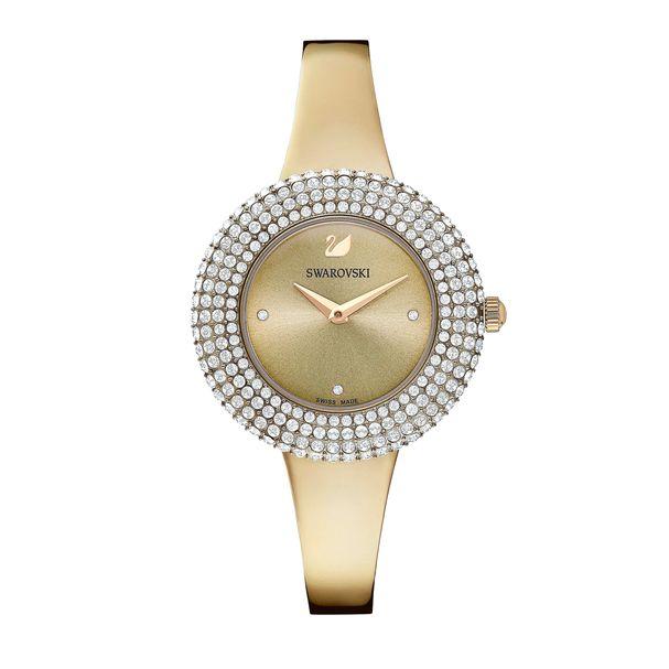 Reloj-Crystal-Rose-Brazalete-de-metal-gris-PVD-en-tono-Oro-Champan