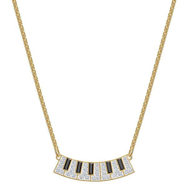 Collar-Pleasant-Piano-multicolor-Baño-en-tono-oro