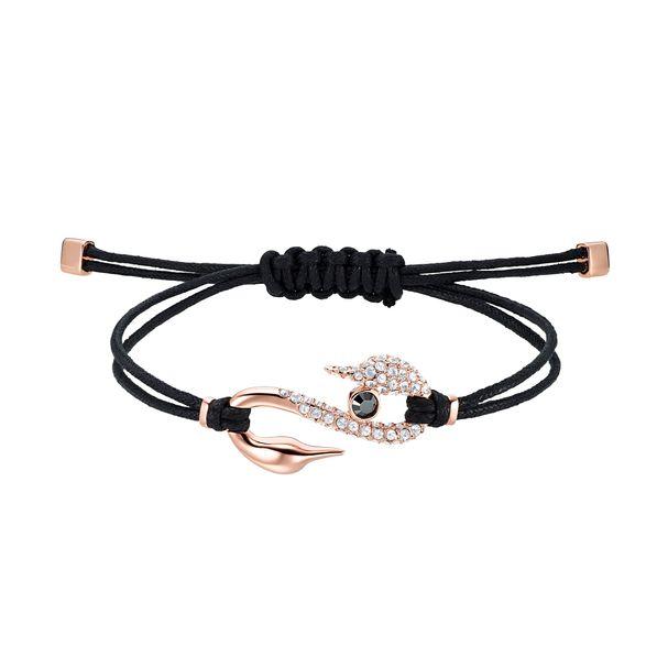 Pulsera-Swarovski-Power-Collection-Hook-negro-Baño-en-tono-Oro-Rosa