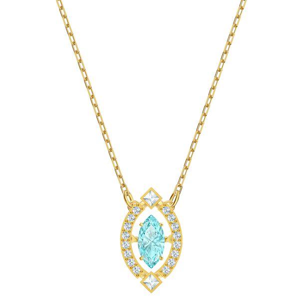 Collar-Sparkling-Dance-verde-Baño-en-tono-oro