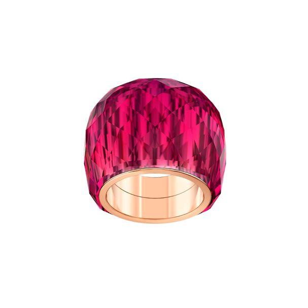 Anillo-Swarovski-Nirvana-rojo-PVD-en-tono-oro-rosa