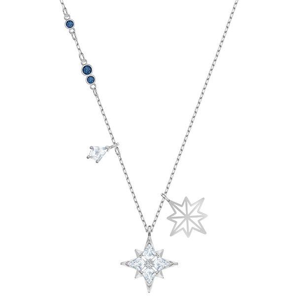 Colgante-Swarovski-Symbolic-Star-blanco-Baño-de-Rodio
