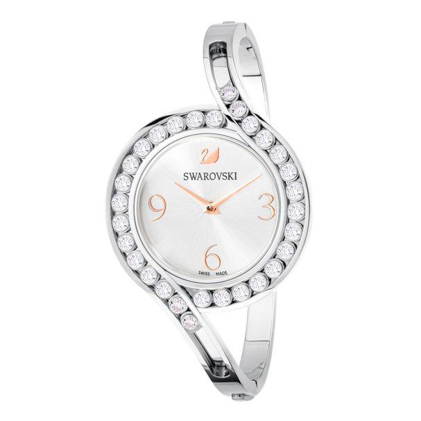 Reloj-Lovely-Crystals-Bangle-Brazalete-de-metal-blanco-acero-inoxidable