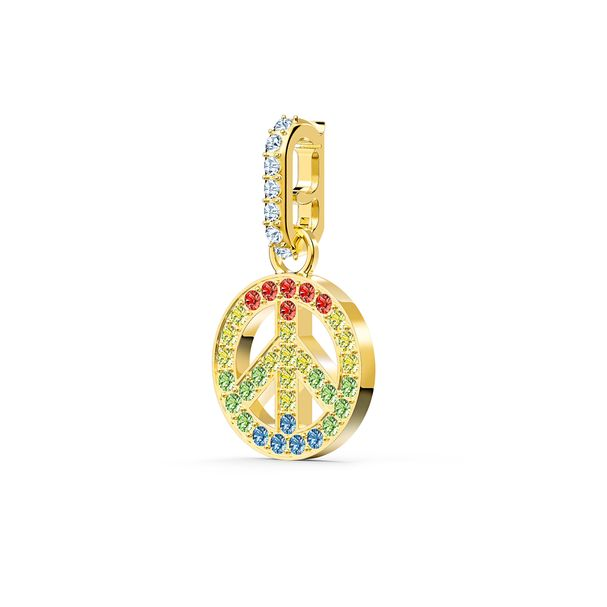 Charm-Swarovski-Remix-Collection-Peace-colores-claros-baño-tono-oro
