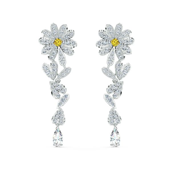 Aretes-Eternal-Flower-amarillo-combinacion-de-acabados-metalicos