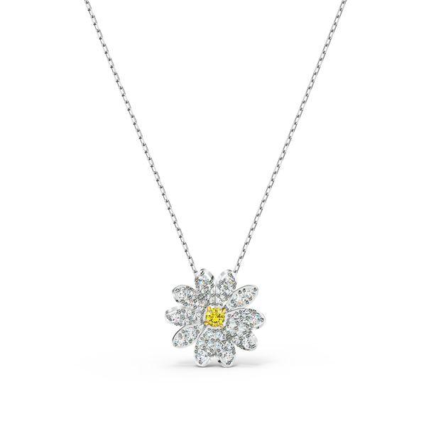 Colgante-Eternal-Flower-amarillo-combinacion-de-acabados-metalicos