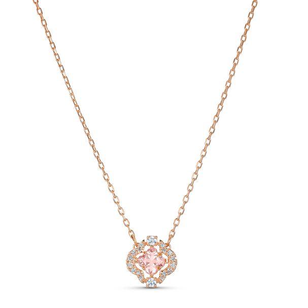Collar-Swarovski-Sparkling-Dance-rosa-baño-tono-oro-rosa