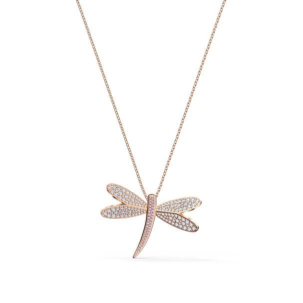 Collar-Eternal-Flower-blanco-baño-tono-oro-rosa