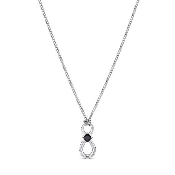 Colgante-Swarovski-Infinity-negro-acero-inoxidable