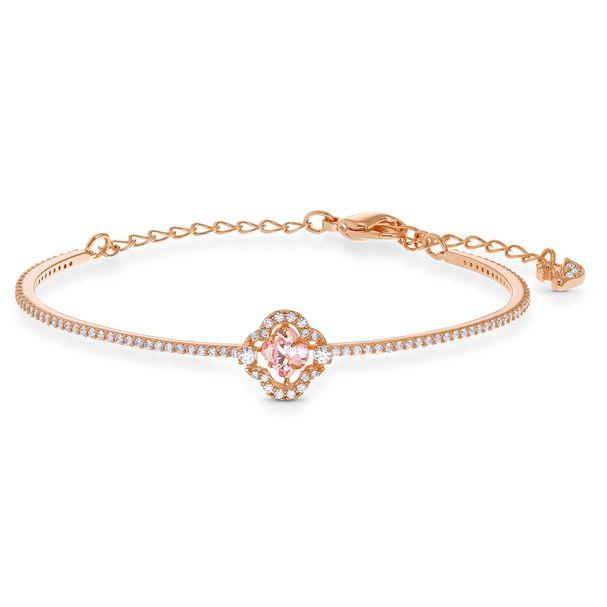 Brazalete-Swarovski-Sparkling-Dance-rosa-baño-tono-oro-rosa