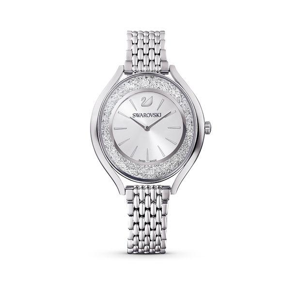 Reloj-Crystalline-Aura-brazalete-de-metal-tono-plateado-acero-inoxidable