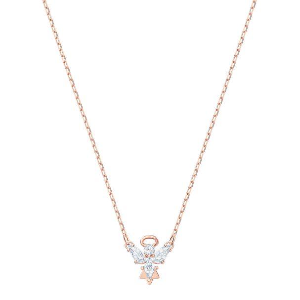 Collar-Magic-Angel--blanco-Baño-de-oro-rosa