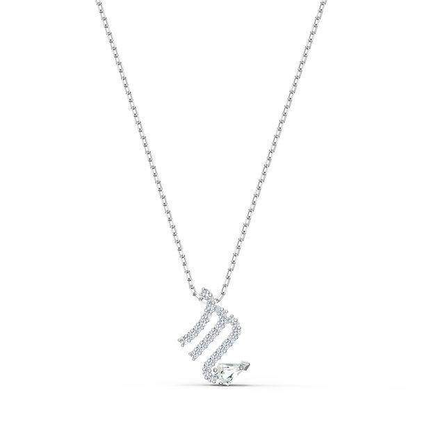 Colgante-Zodiac-II-Escorpio-blanco-combinacion-de-acabados-metalicos