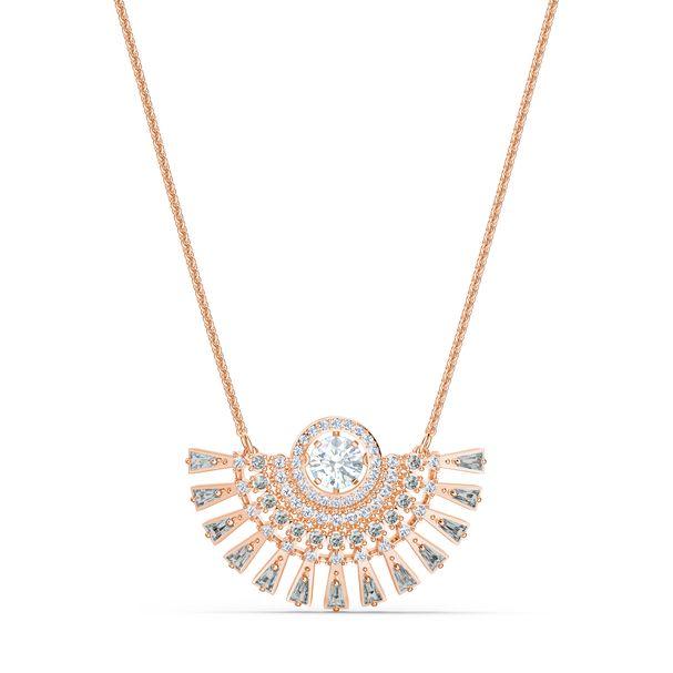 Collar-Swarovski-Sparkling-Dance-Dial-Up-mediano-gris-baño-tono-oro-rosa