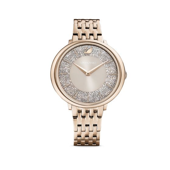 Reloj-Crystalline-Chic-brazalete-de-metal-gris-PVD-tono-oro-champan