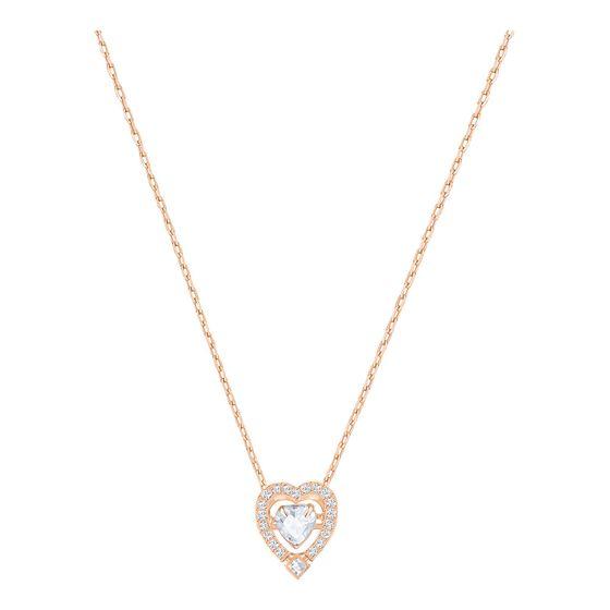 Collar-Sparkling-Dance-Heart-blanco-baño-de-oro-rosa