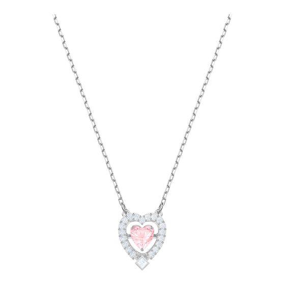 Collar-Sparkling-Dance-Heart-rosa-baño-de-rodio