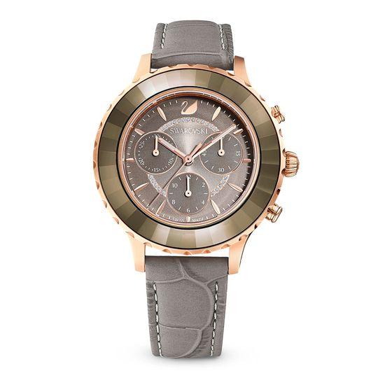 Reloj-Octea-Lux-Chrono-Correa-de-piel-gris-tono-oro-rosa